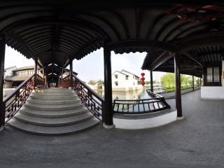 安徽—铜陵江南文化园鲁望桥全景