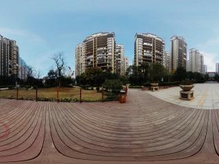 湖南—长沙中建麓山和苑中心广场全景