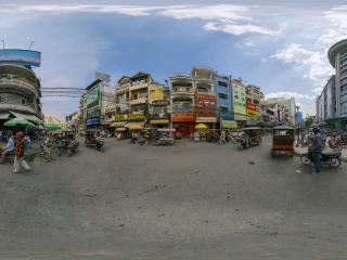 柬埔寨—金边街景全景