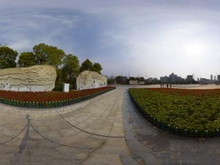 湖北—黄冈遗爱湖公园前后赤壁赋全景