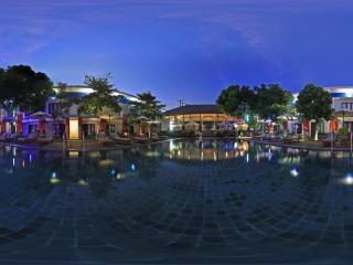印度尼西亚—巴厘岛酒店夜景全景