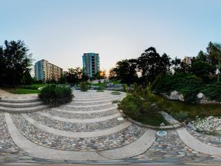 北京—北京山水文园住宅区景观展示全景