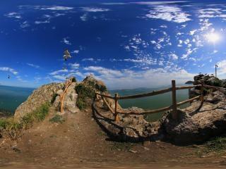 辽宁—大连城山头海滨地貌国家级自然保护区全景