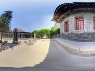 陕西—西安皇城庙景区全景