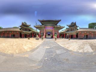 陕西—西安城隍庙景区全景