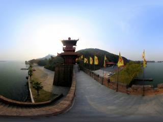 湖北—武汉磨山楚城门全景