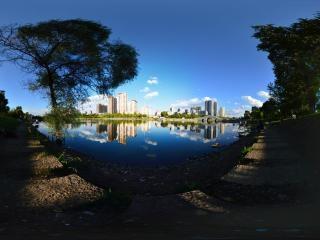吉林—吉林市江滨公园全景