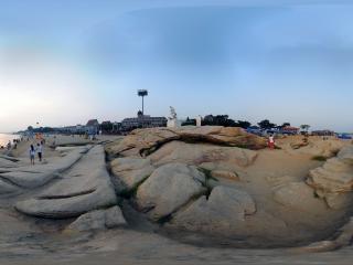 河北—秦皇岛海滨礁石区(四)全景