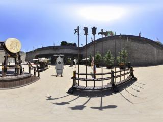 西安城墙—永宁门门前兵器全景