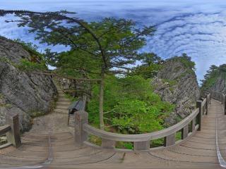 神农顶孔雀石全景