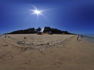 海南—琼海玉带滩全景