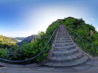 北京—京东石林峡风景区—观湖亭全景