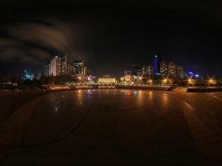 山东—济南五四广场全景一全景