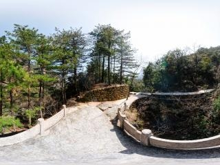 安徽—黄山风景区观景台全景