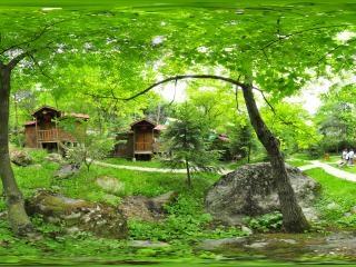小木屋别墅区全景