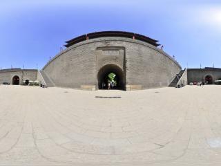 陕西—西安城墙永宁门入口全景