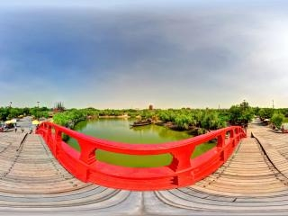 河南—开封清明上河园丹台宫全景