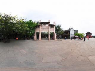 四川—成都洛带古镇万年堂全景