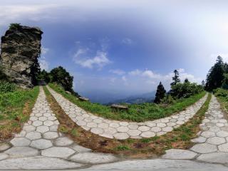 大薤山风景区全景