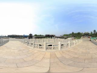 山西—太原晋祠公园全景一全景
