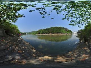 白水河堤全景