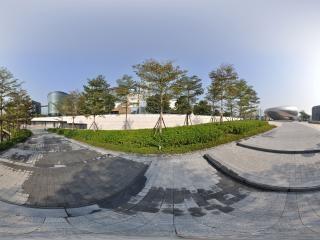 广场侧面全景