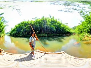 竹筏2全景