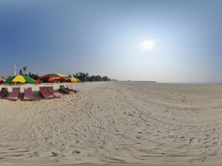 广西—北海银滩阳光浴场全景