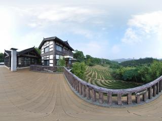 远眺茶溪栈桥全景