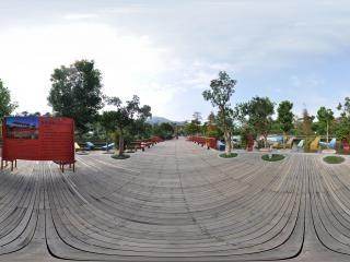 湿地廊桥介绍牌