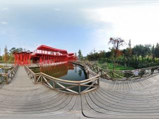 湿地廊桥水上木质走廊