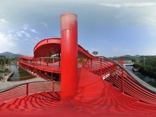 湿地廊桥旋转梯