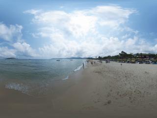 海边酒店休息区