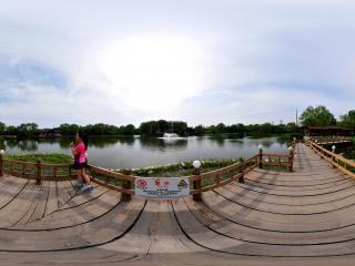 北京—朝阳区古塔公园(一)全景