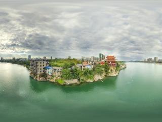 湖南—永州湘江一角全景