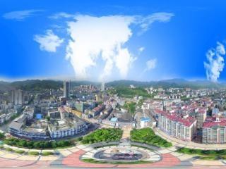 湖南—邵阳广场全景