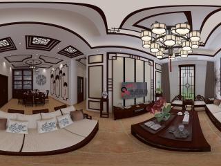 四川—泸州别墅客厅展示全景