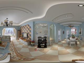 四川—泸州客厅装饰全景展示全景