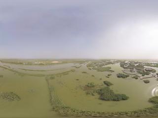 沙湖高空全景