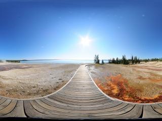 美国—黄石公园旅游区全景