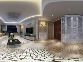 辽宁—沈阳欧式客厅3D全景展示全景