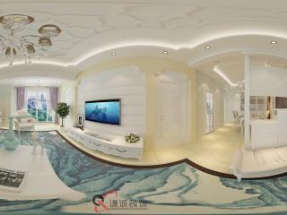 四川—泸州客厅装饰展示全景
