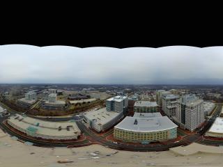美国—弗吉尼亚州Reston市中心全景