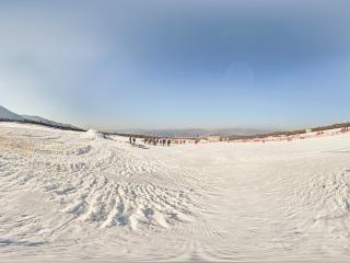 陕西—宝鸡太白鳌山滑雪场全景