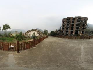 汶川地震遗址—废墟(一)全景