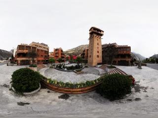四川—阿坝汶川文化广场全景