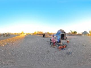 纳米比亚辛巴族红泥人全景