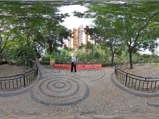 北京—朝阳区走进松榆里社区公园全景
