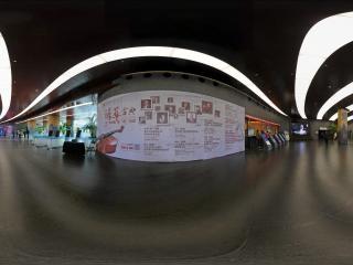 国家大剧院内左侧广告