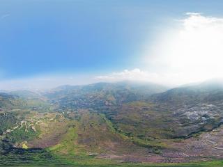 撒玛坝梯田空中全景